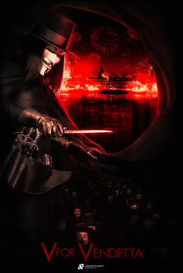 V for Vendetta Custom Poster.