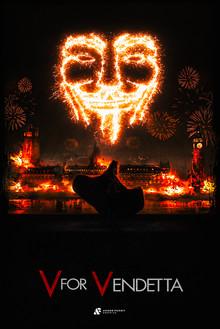 V for Vendetta Fan Art Poster.