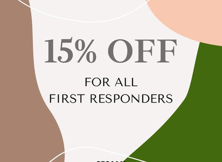 15% Off to all First Responders