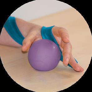 Bälle werden in der Ergotherapie häufig für motorische Übungen eingesetzt.