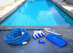 Swimming pool cleaning equipment.Service