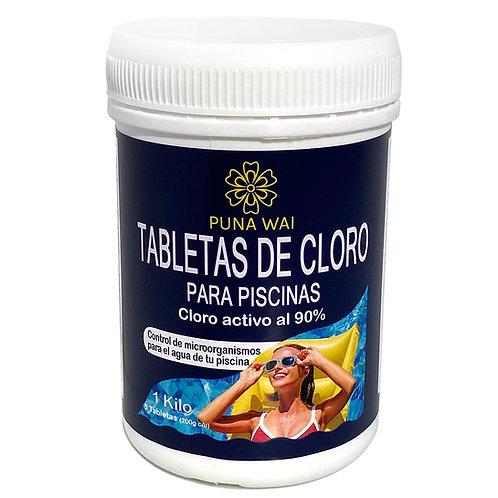 Cloro en Tabletas - 1 Kilo (5 de 200grs.)