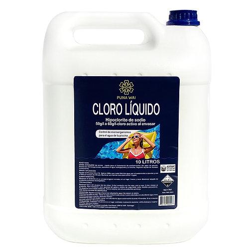 Cloro Líquido - 10 Litros