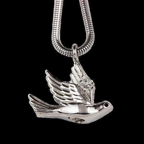 Bird in Flight Stainless Steel Pendant