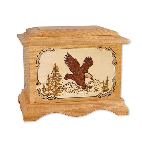 Eagle 3D Oak Urn