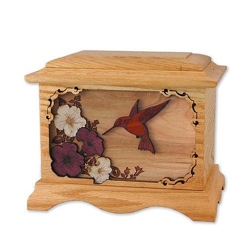 3D Oak Hummingbird Urn