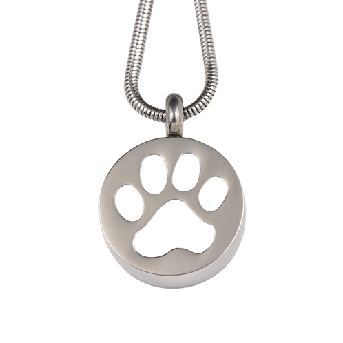 Paw Print Stainless Steel Pendant