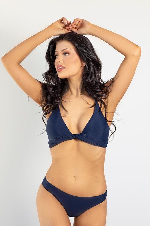 Ink Navy Wrap Bikini Top