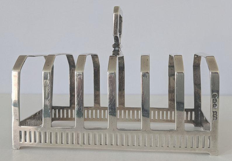 MAPPIN & WEBB Art Deco Solid Silver Toast Rack - Hallmarked SHEFFIELD 1928 - 106