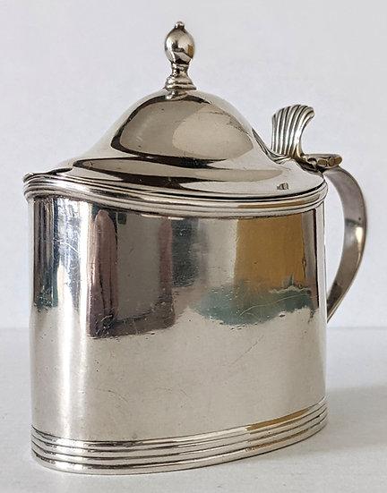 Antique Georgian Solid Sterling Silver Mustard Pot LONDON 1800