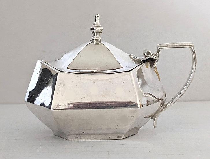 VERY NICE 1919 Hexagonal Silver Mustard Pot 46 grams Sheffield 1919