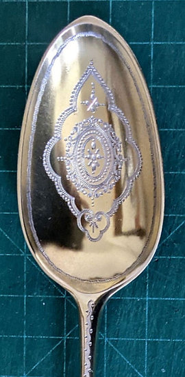 1755 A Pair of Georgian Silver/Gilt Table/Serving Spoons by Ebenezer Coker