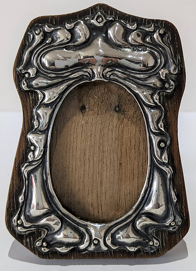 1904 Small Picture Frame  Solid Silver Art Nouveau Front