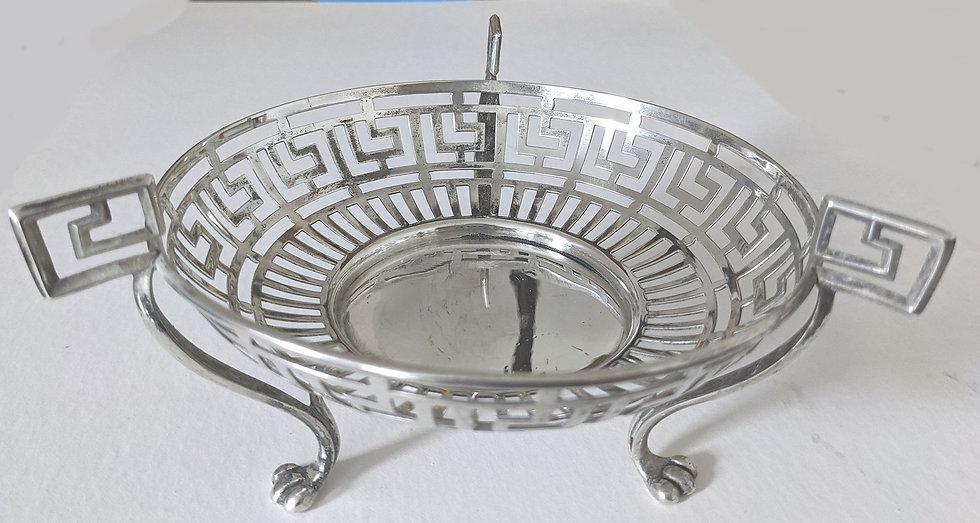 1906 Table Centrepiece or General Purpose Dish of Greek Key Pattern 169 grams