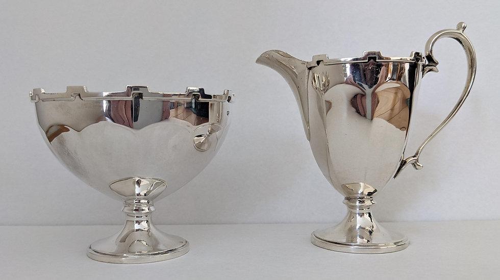 MAPPIN & WEBB BOXED Silver JUG & BOWL Birmingham 1925