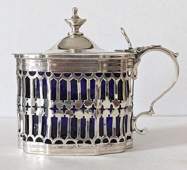 GEORGE III solid silver MUSTARD POT, LONDON 1799