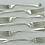 Thumbnail: 1908 DESSERT Forks. Nice Set of Sterling Silver Set  6 Old Rat Tail LONDON 1900