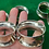 Thumbnail: 1946 A Set of 6 Mid Century Solid Silver Napkin Rings