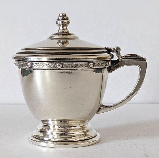VERY NICE 1936 Edward VIII Silver Mustard Pot 54 grams  Birmingham 1936