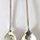 Thumbnail: 1925 Art Deco coffee/tea/ demitasse Spoons in a case Birmingham 1925
