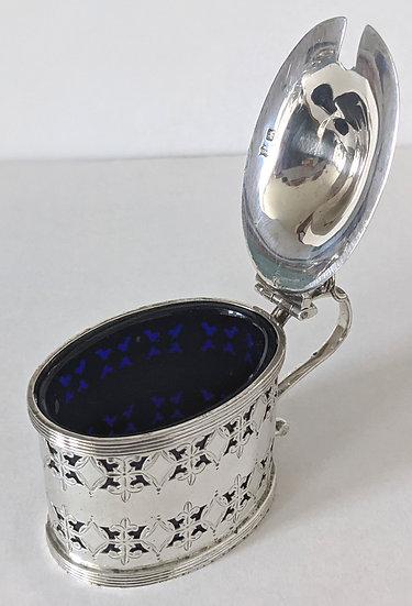 Edwardian Silver Mustard Pot Sheffield 1908