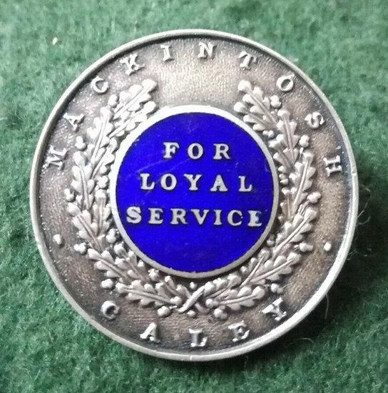 Silver Hallmarked Mackintosh Caley Loyal Service Badge 1947