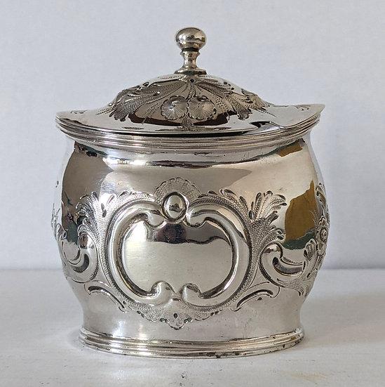 Antique Georgian Sterling Silver Mustard Pot London 1801 101 grams