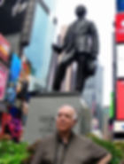 Marcello with George M. Cohan Statue
