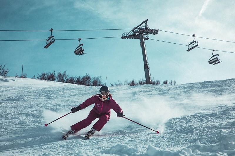 Skiing is a popular winter sport in Manali