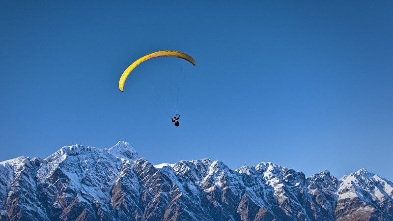 Paragliding in Solang Valley is a popular adventure activity in Manali