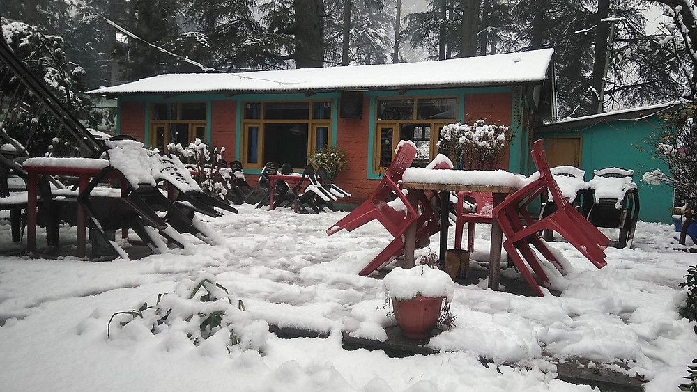Moon dance cafe, most beautiful cafe in Kasol