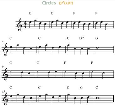 עמוד מתוך הספר - בחמישה צלילים