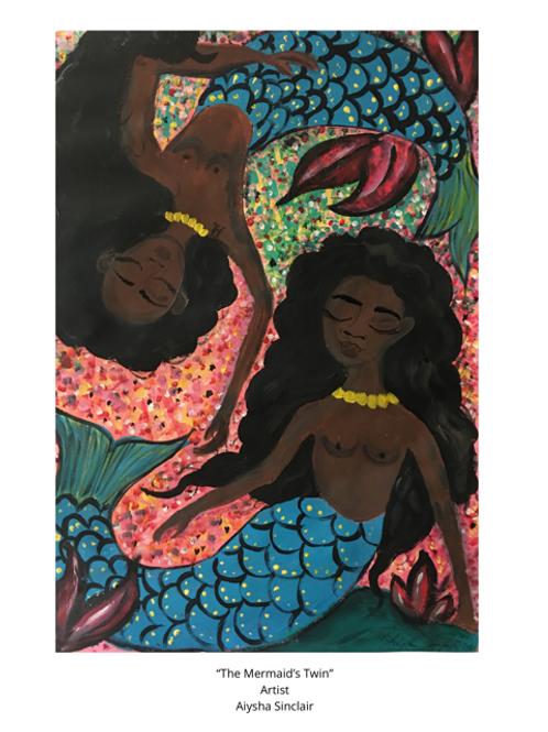 Mermaid and Her Sister Art Print