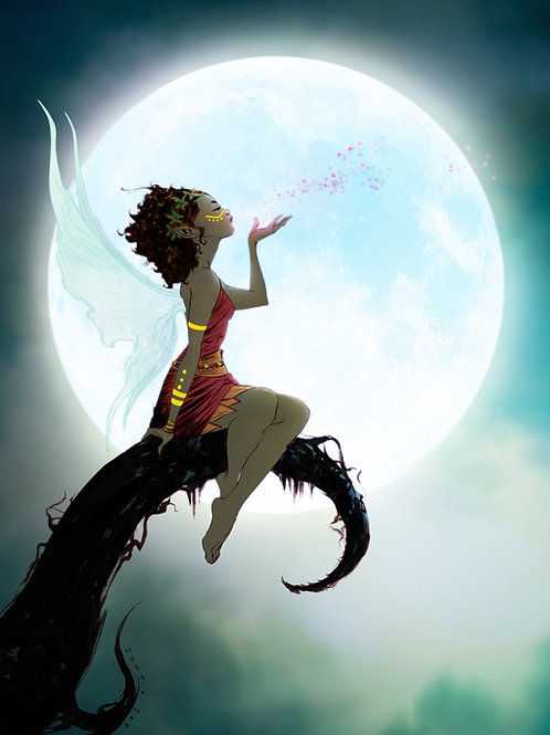 """Saroja and the Moon"" Jae Lee Art Print"