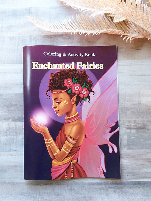 Enchanted  Fairies Coloring/ Activity Book