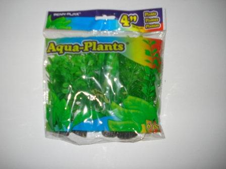 "4"" PLASTIC PLANT GREEN PACK"