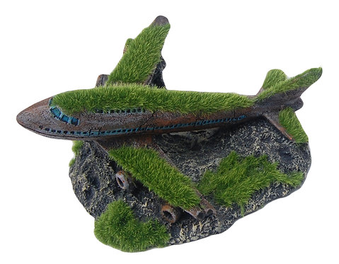 17CM PLANE WITH MOSS