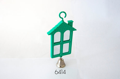 2-SIDED HOUSE SHAPE MIRROR w/BELL