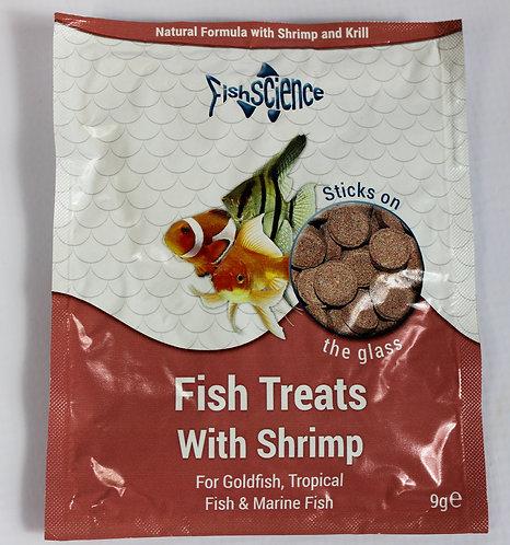 FISH TREATS WITH SHRIMP 9G SACHET