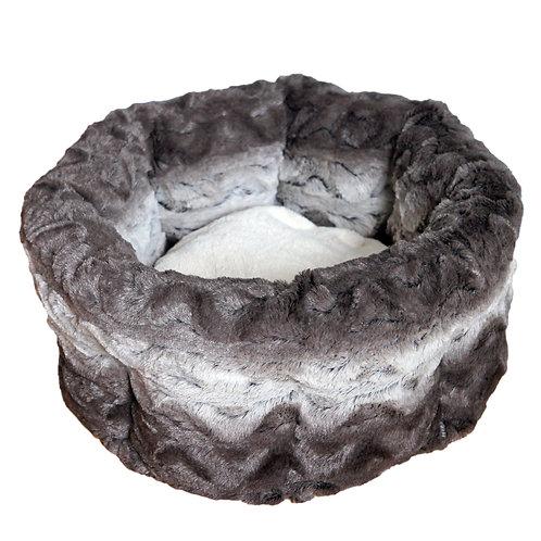 Rosewood Pet Bedding Grey/Cream Snuggle Round Plush