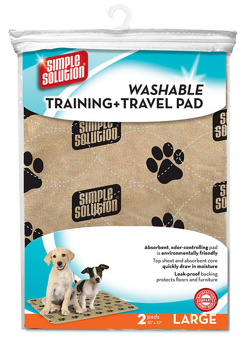 SS WASHABLE TRAINING & TRAVEL PAD 2PC