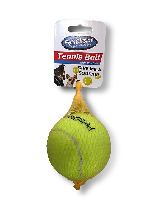 PETS CHOICE 80mm TENNIS BALL - yellow/orange 1pc