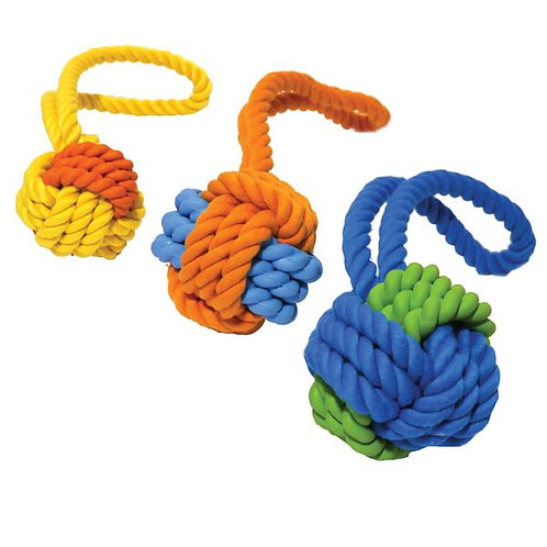 Rubber & Rope Ball Tug Sml