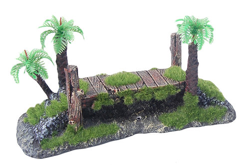 20CM BRIDGE WITH MOSS