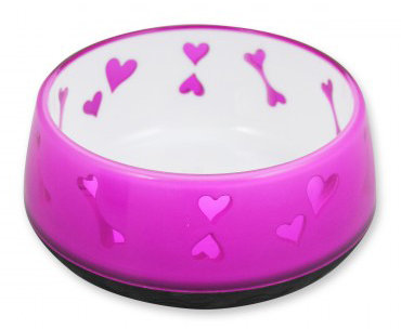 DOG LOVE BOWL - PINK-S