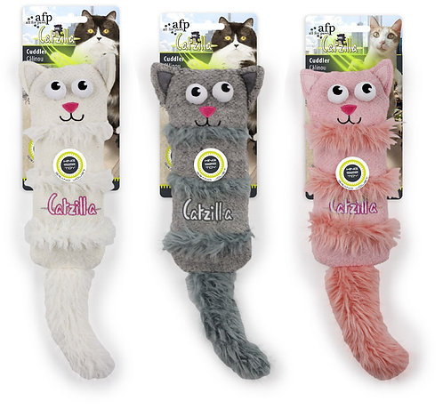 CATZILLA - CUDDLER - WHITE/GREY/PINK