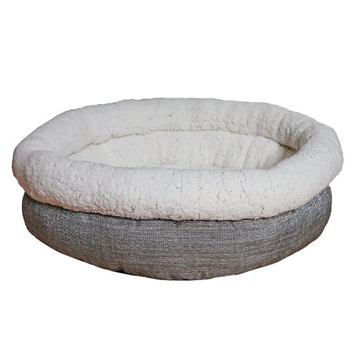 Rosewood Pet Bedding Deep Tweed Teddy Bear Round Bed