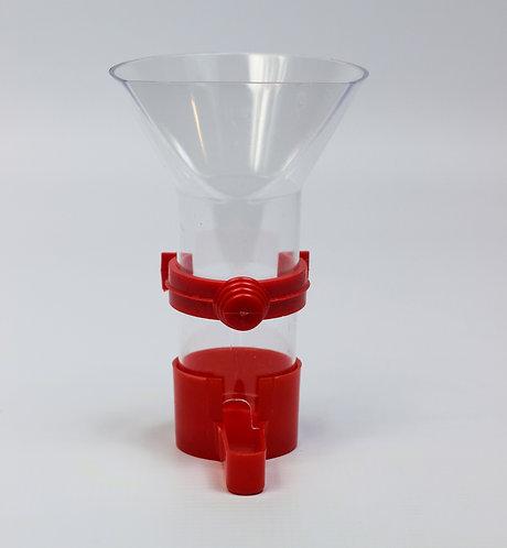 FUNNEL FEEDER w/PLASTIC CLIP LGE