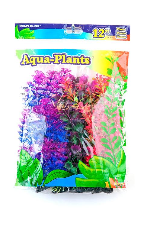 "12"" PLASTIC PLANT COLORFUL PACK"