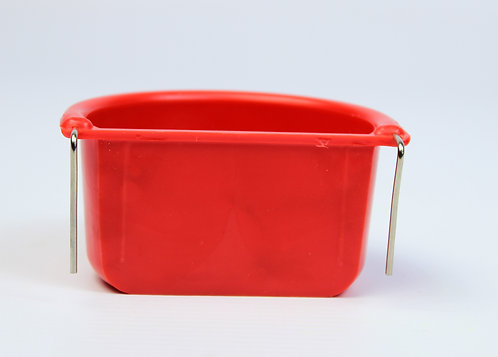 PLASTIC COOP CUP WITH METAL HOOKS 7.5cm